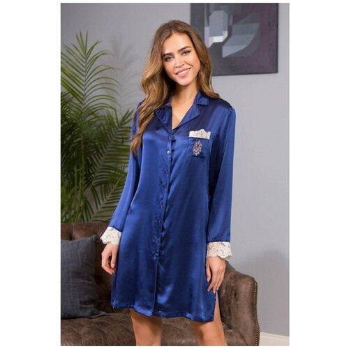 Сорочка Mia-Mia Kristy, размер S(44), синий сорочка mia mia размер s 44 синий