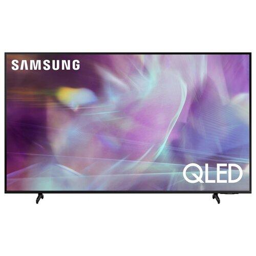 Фото - Телевизор QLED Samsung QE85Q60AAU 84.5 (2021), черный телевизор qled samsung the frame qe65ls03aau 64 5 2021 черный