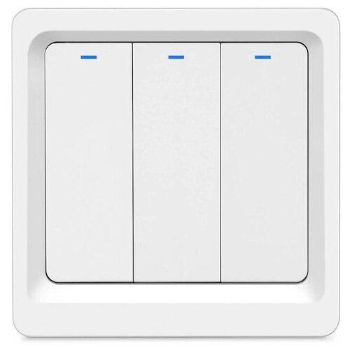 Фото - Умный встраиваемый Wi-Fi выключатель HIPER IoT Switch B03, 3 линии, белый умный wi fi модуль выключатель hiper iot switch m02 белый hdy sm02