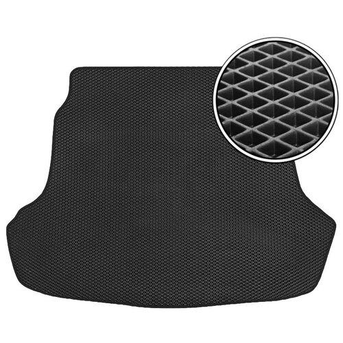 Автомобильный коврик в багажник ЕВА Toyota Highlander II (U40) 2007 - 2013 (багажник) (черный кант) ViceCar