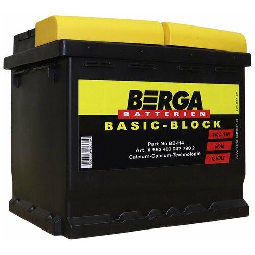 Автомобильный аккумулятор Berga BB-H4-52