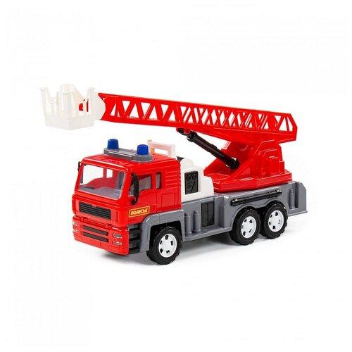 Купить Автомобиль-пожарный Полесье Алмаз, инерционный, в сеточке 86723, Машинки и техника