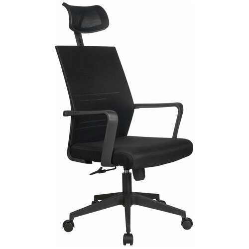 Компьютерное кресло Рива A818 офисное, обивка: текстиль, цвет: черный компьютерное кресло рива 8074 офисное обивка текстиль искусственная кожа цвет оранжевый