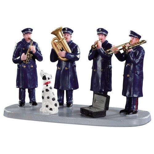 фигурка lemax галерея голубого хребта 18 7 х 22 3 х 14 см черный бежевый Фигурка LEMAX композиция пожарный оркестр 13 х 7 х 6 см синий