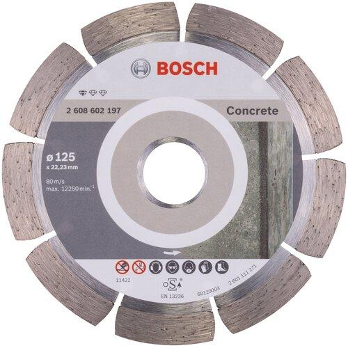 Фото - Диск алмазный отрезной BOSCH Standard for Concrete 2608602197, 125 мм 1 шт. диск алмазный отрезной bosch standard for ceramic 2608602201 115 мм 1 шт