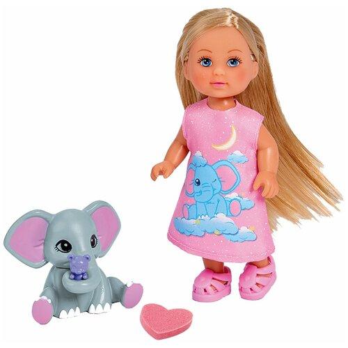 Кукла Simba Еви со слоненком, 12 см, 5733355