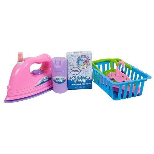 Фото - Игровой набор ABtoys Помогаю маме PT-00574 голубой/розовый/зеленый набор abtoys помогаю маме pt 01342 розовый белый