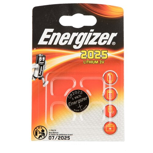 Фото - Батарейка Energizer CR2025, 1 шт., 5 уп. батарейка energizer max plus aa 4 шт