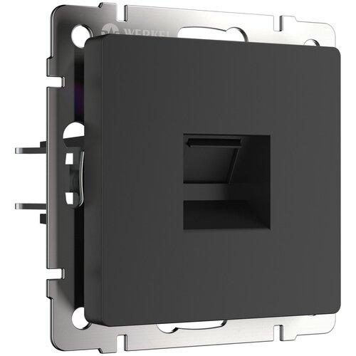 Розетка Ethernet RJ-45 черный матовый Werkel W1181008/ Розетка Ethernet RJ-45 (черный матовый)