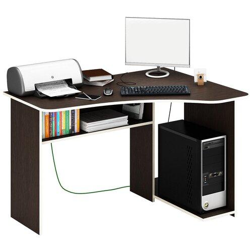 Фото - Компьютерный стол угловой MfMaster Триан-1, ШхГ: 120х90 см, угол: справа, цвет: венге правый стол компьютерный триан 1