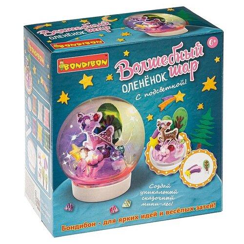 Купить Набор для творчества BONDIBON Волшебный шар. Оленёнок ( с подсветкой) (ВВ4991), Поделки и аппликации