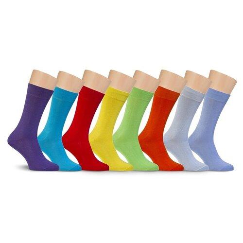 Носки LorenzLine К1 цветные из хлопка (25 (размер обуви 39-40), Бирюзовый)