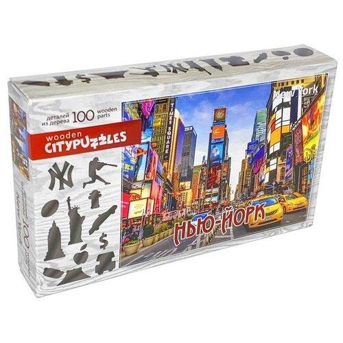 Фото - Пазл Нескучные игры Citypuzzles Нью-Йорк (8229), 100 дет. пазлы нескучные игры деревянный пазл citypuzzles лондон