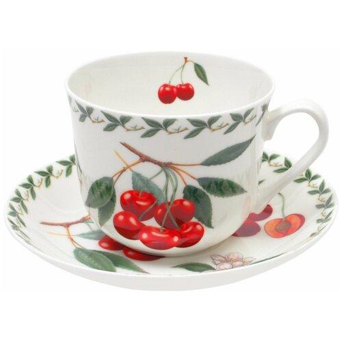 Фото - Чайная пара MAXWELL & WILLIAMS Вишня, 480 мл, белый/красный/зеленый пара чайная priority дыхание прованса вишня 480 мл