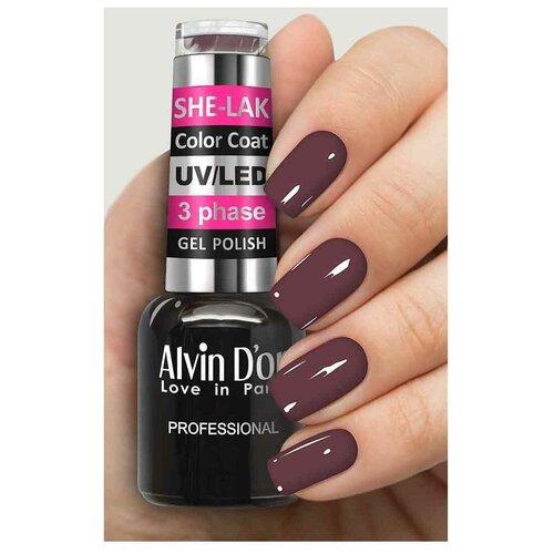 Купить Гель-лак для ногтей Alvin D'or She-Lak Color Coat, 8 мл, 3537