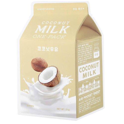 Купить A'PIEU Маска тканевая с молочными протеинами и экстрактом кокоса Coconut Milk One-Pack, 21 г