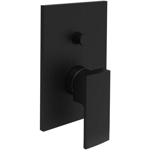 Смеситель для ванны с подключением душа Paffoni EL015NO/M черный матовый смеситель для ванны с подключением душа paffoni el015no m однорычажный встраиваемый черный матовый