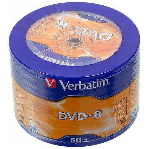 Диск DVD-R Verbatim 4.7Gb 16x AZO 50 шт. bulk