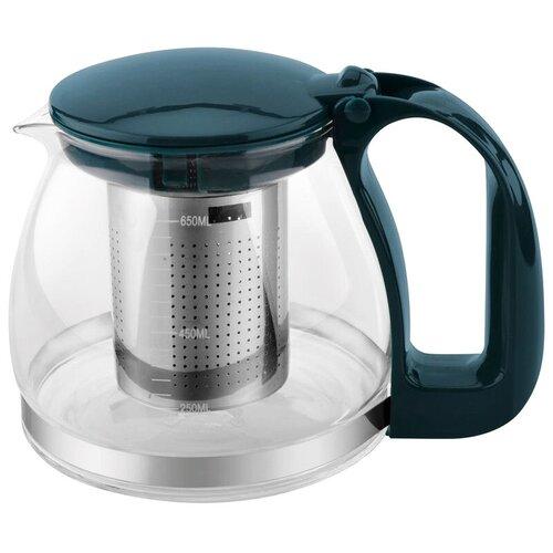 mallony заварочный чайник decotto as 750 0 75 л темно синий Mallony Заварочный чайник Decotto AS 750 0.75 л, темно-синий