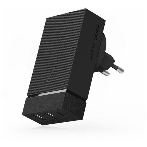 Фото - Адаптер сетевой Native Union Smart HUB PD, 45Вт, серый адаптер сетевой native union smart charger pd 45вт серый