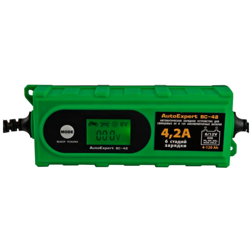 Фото - Зарядное устройство AutoExpert BC-42 зеленый зарядное устройство autoexpert bc 65