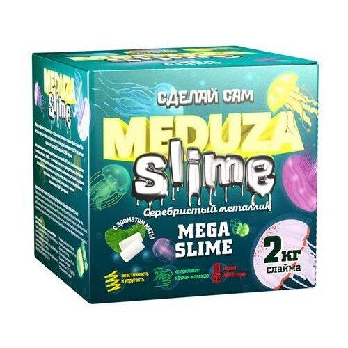 Набор для экспериментов ВИСМА Медуза слайм Мега слайм Серебристый металлик