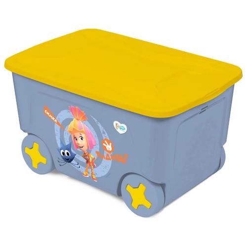 Фото - 1423LA Контейнер для игрушек Little Angel Фиксики.Симка (колеса, 50 л) контейнер little angel малышарики 5 1 л la1152 нк белый