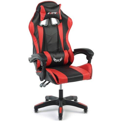 Игровое кресло Экспресс офис 202, обивка: искусственная кожа, цвет: искусственная кожа черно-красная