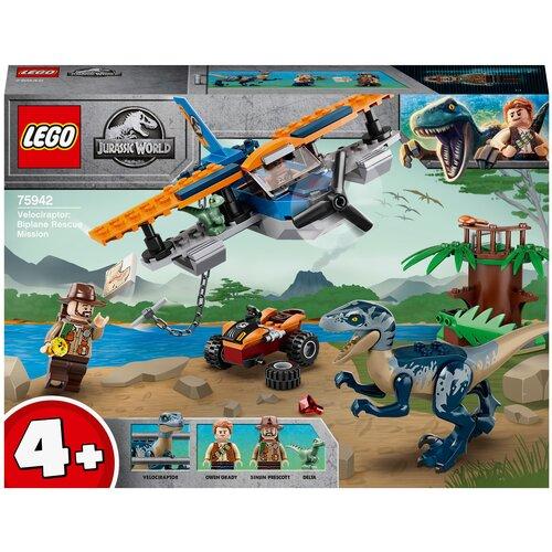 Купить Конструктор LEGO Jurassic World 75942 Велоцираптор: спасение на биплане, Конструкторы