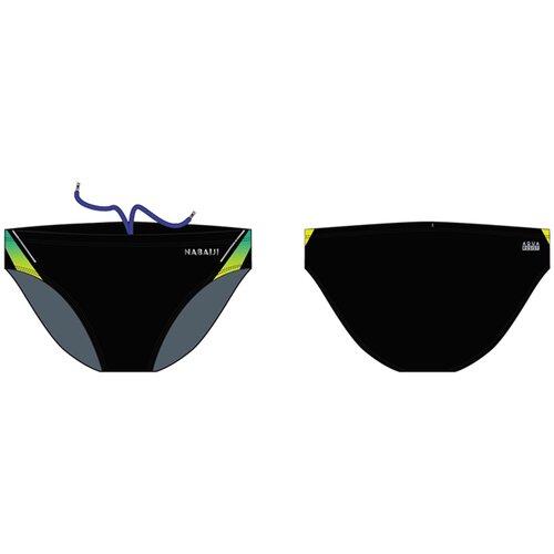 Купить Плавки-слипы для мальчиков синие 900 YOKE GRAD, размер: 123-130 CM 7-8, цвет: Черный/Яркий Индиго/Лайм NABAIJI Х Декатлон, Decathlon, Белье и пляжная мода