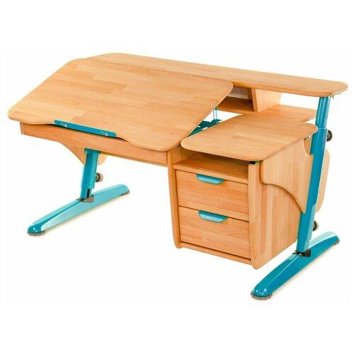 Фото - Стол детский PONDI Эргономик с тумбой ЭКО 120x75 см бук/синий школьные парты tct nanotec стол эргономик м6 xs
