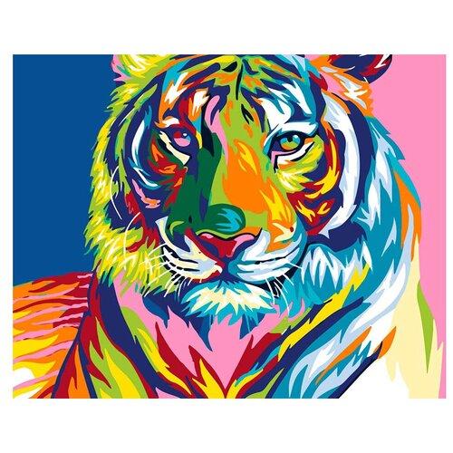 Купить ВанГогВоМне Картина по номерам Радужный тигр , 40х50 см (ZX 20371), Картины по номерам и контурам