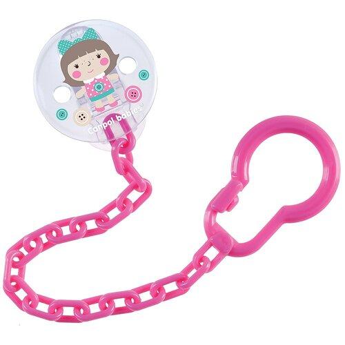 Купить Клипса-держатель для пустышек Canpol babies Toys, 0+, цвет розовый (250989446), Пустышки и аксессуары