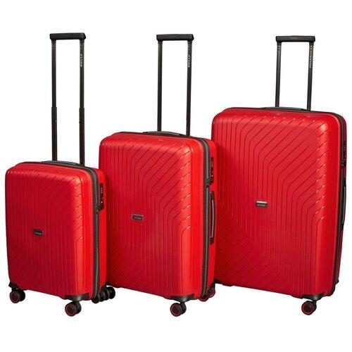 Комплект чемоданов L'case Madrid Red (красный) Комп. 3 шт. комплект чемоданов l case krabi red wine