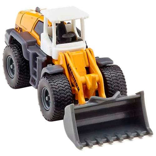 трактор siku с прицепом кузовом 1858 1 87 22 6 см желтый Погрузчик Siku Фронтальный Leibherr R580 (1477) 1:87, 18 см, желтый/серый