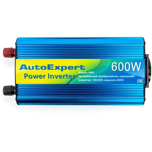 Преобразователь напряжения автомобильный (инвертор) AutoExpert A600, 600W, 12/220V