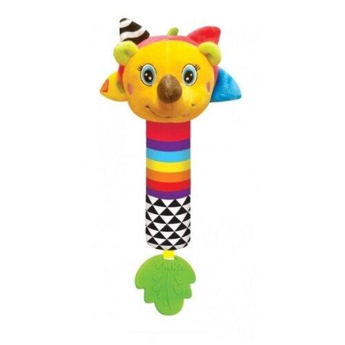 Прорезыватель-погремушка Умка Озорной Ёжик RS-H4 желтый/зеленый прорезыватель погремушка умка пищалка rs d желтый зеленый