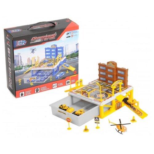 Купить Beboy Строитель (IT106381) желтый/белый/оранжевый, Детские парковки и гаражи