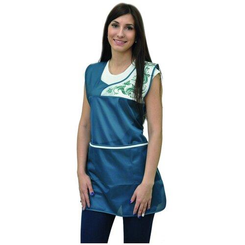Купить Фартук рабочий нейлон Принцесса зеленый, 40-46, IVUNIFORMA, Одежда для уроков труда