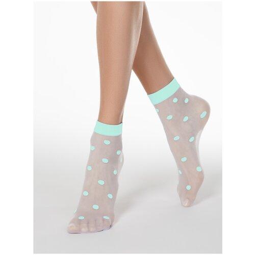 Капроновые носки Conte Elegant 16С-124СП, размер 23-25, turquoise