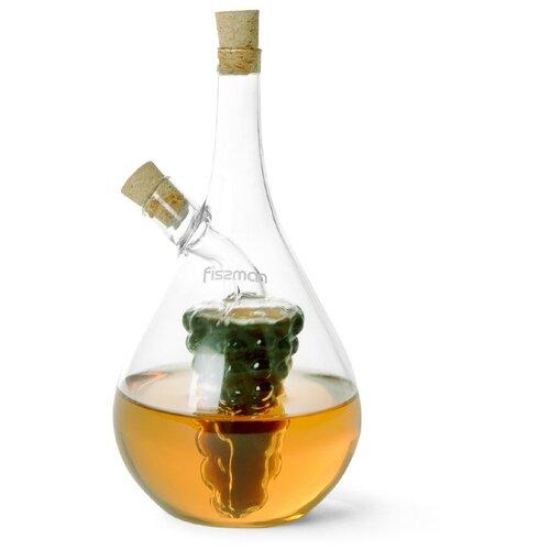 Бутылочка Fissman 40/450 мл для масла и уксуса 2-в-1 (стекло) (6538) fissman бутылочка для масла или уксуса 150 мл прозрачный серебристый белый