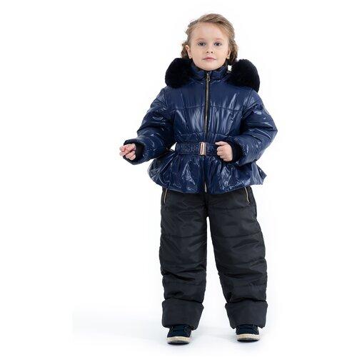 Купить Комбинезон для девочки Talvi 93843, размер 086/48, цвет синий, Теплые комбинезоны