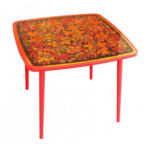 Купить Стол квадратный Хохлома Осень 1-ой ростовой категории Ягода/Цветок, Хохломская роспись, Парты и столы
