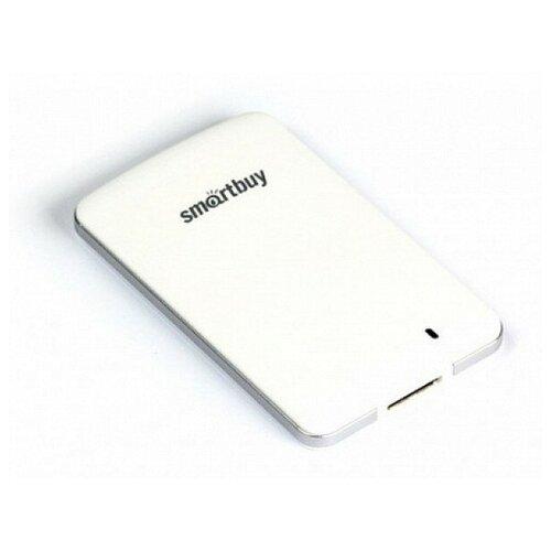 Фото - Внешний SSD Smartbuy 128Gb S3 Драйвер (USB3.0, 425/400Mbs, TLC, 1.8) Белый внешний ssd smartbuy 1 0 tb s3 drive usb3 0 425 400mbs tlc 1 8 белый