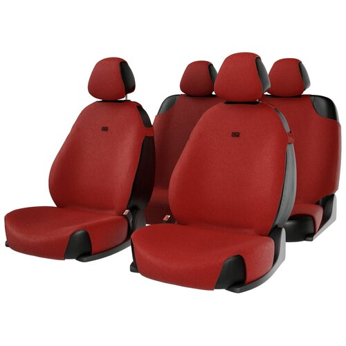 Комплект накидок на автомобильные сиденья CarFashion FORUM красный
