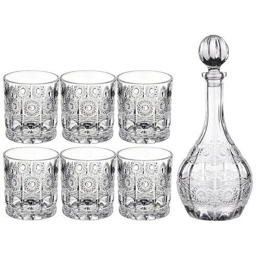 Набор для виски muza crystal 7пр.: штоф , 6 стаканов 950/300 мл Lefard (195-187) недорого