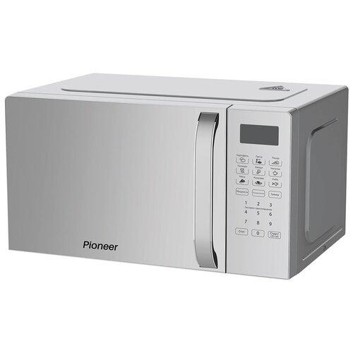 Микроволновая печь Pioneer MW255S 20 л с сенсорным управлением и LED-дисплеем, 8 автопрограмм, 5 уровней мощности, 700 Вт