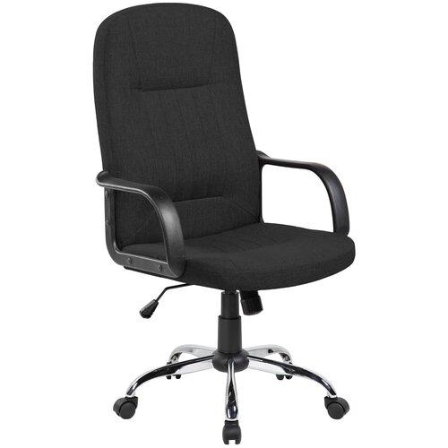 Компьютерное кресло Рива RCH 9309-1J для руководителя, обивка: текстиль, цвет: черный