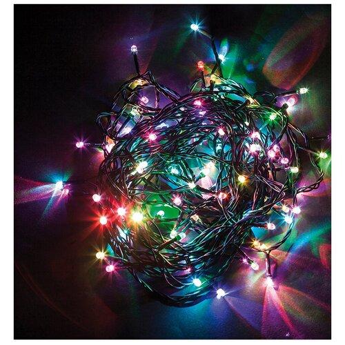 Гирлянда Feron Нить CL08 6000 см (статичная), 600 ламп, разноцветные диоды/зеленый провод