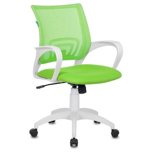 Фото - Офисное кресло Бюрократ CH-W695NLT/SD/TW-18 (Green/White) кресло бюрократ ch w695nlt на колесиках сетка ткань темно серый [ch w695nlt dg tw 12]